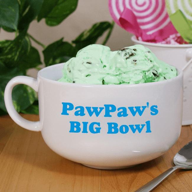 "Personalized Personalized ""Big Bowl"" for GrandPa"