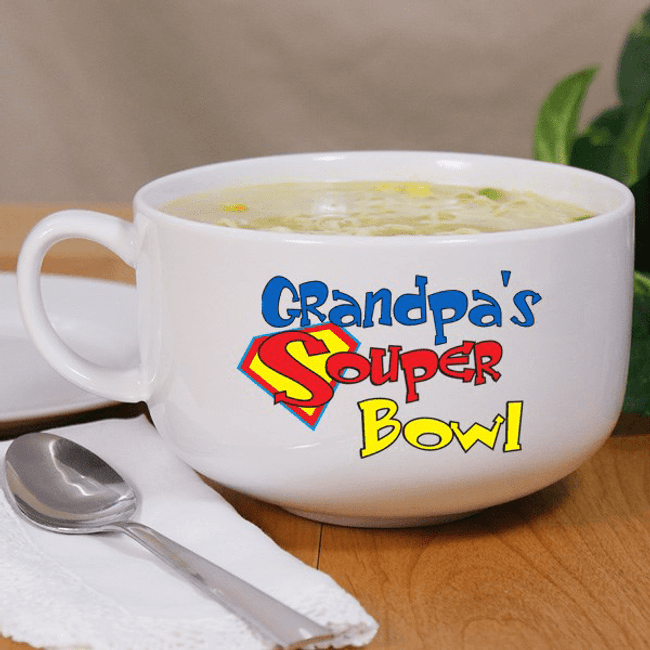"Personalized ""Souper Bowl"" for GrandPa"