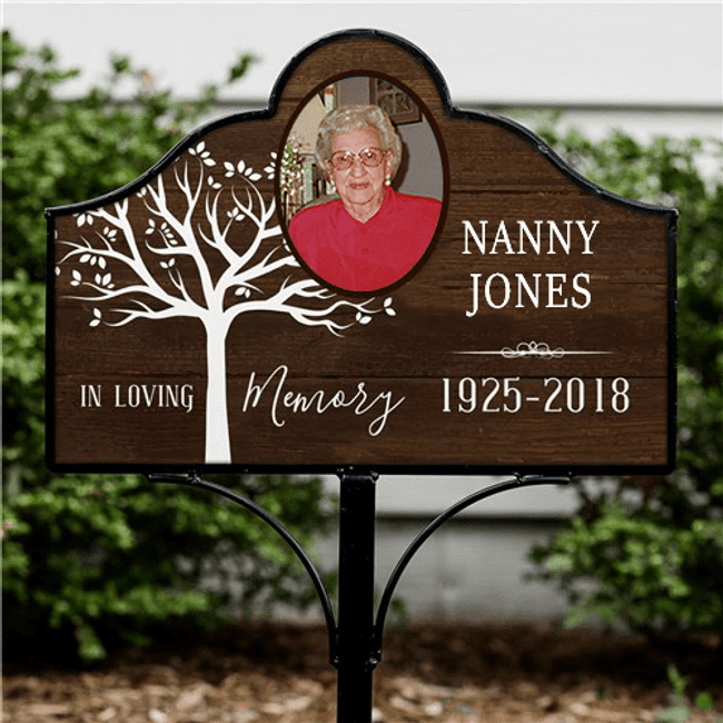 Personalized Memorial Garden Sign In Loving Memory of Grandma