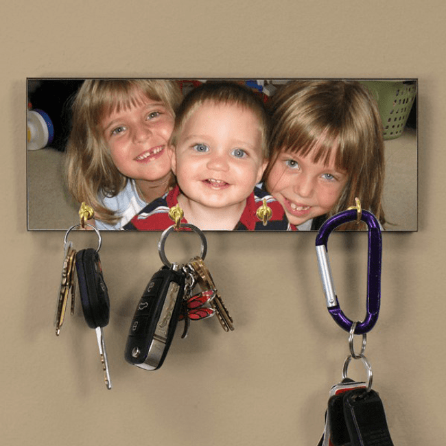 Personalized Photo Key Rack to Delight Grandma!
