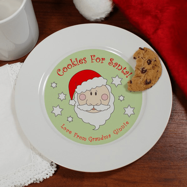 Santa Cookie Plate Personalized for Grandma