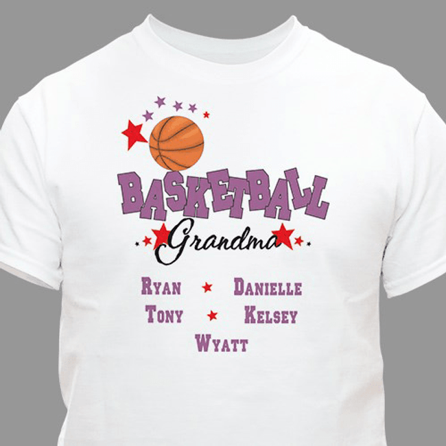 "Personalized ""Basketball Grandma"" T-Shirt"