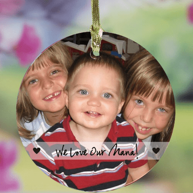 Personalized Photo Ornament for Grandma!
