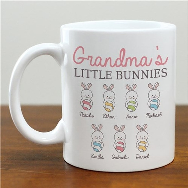 Grandma's Little Bunnies personalized mug for Easter.