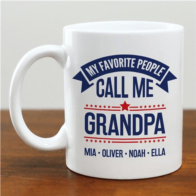 "Personalized ""My Favorite People"" Mug for Grandpa"