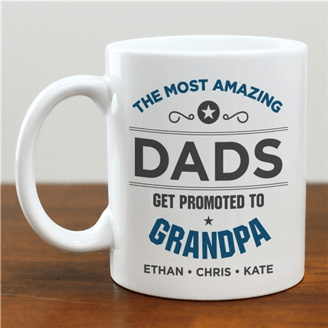 "Personalized Mug ""Promoted to GrandPa"""