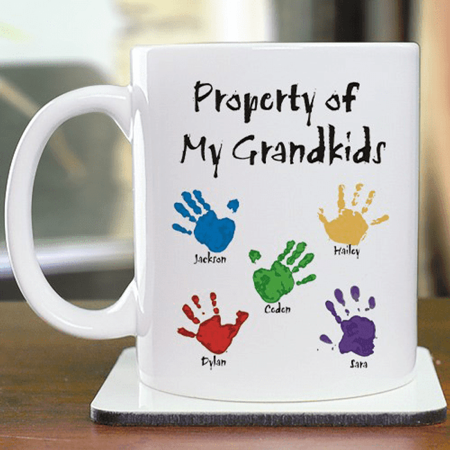 "Personalized ""Property of My Grandkids"" Mug"