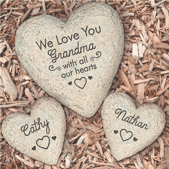 Personalized Garden Stone for Grandma, We Love You...