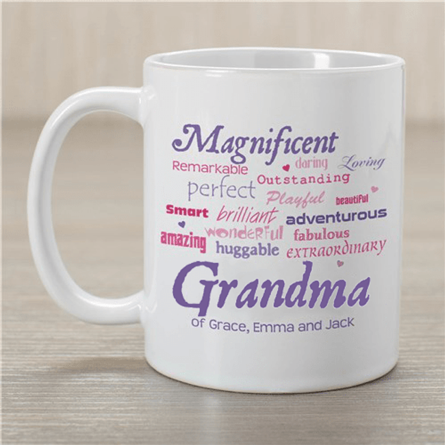 "Personalized Mug for a ""Magnificent Grandma"""