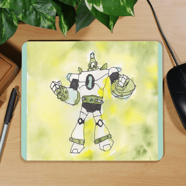 """Grandkid Artwork"" Mouse Pad for Grandma"