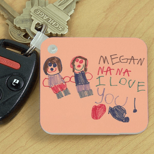 Grandkid Artwork Key Chain for Grandma