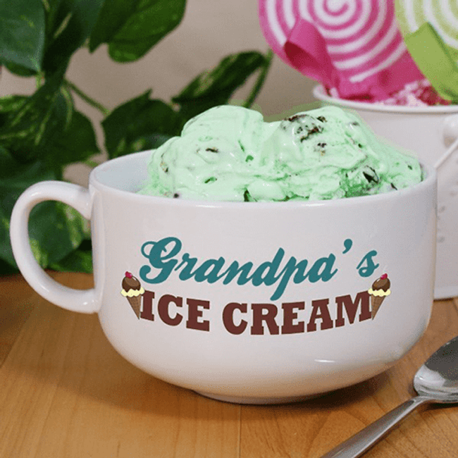"Personalized Grandpa's ""Ice Cream Bowl"""