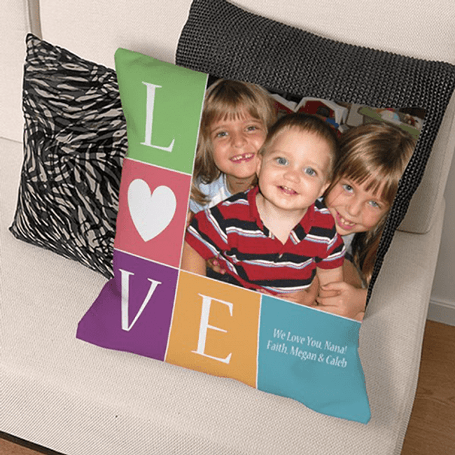"Grandma's ""Love"" Personalized Throw Pillow"