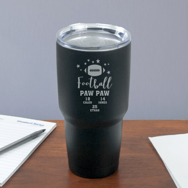 "Personalized ""Football GrandPa"" Travel Mug"