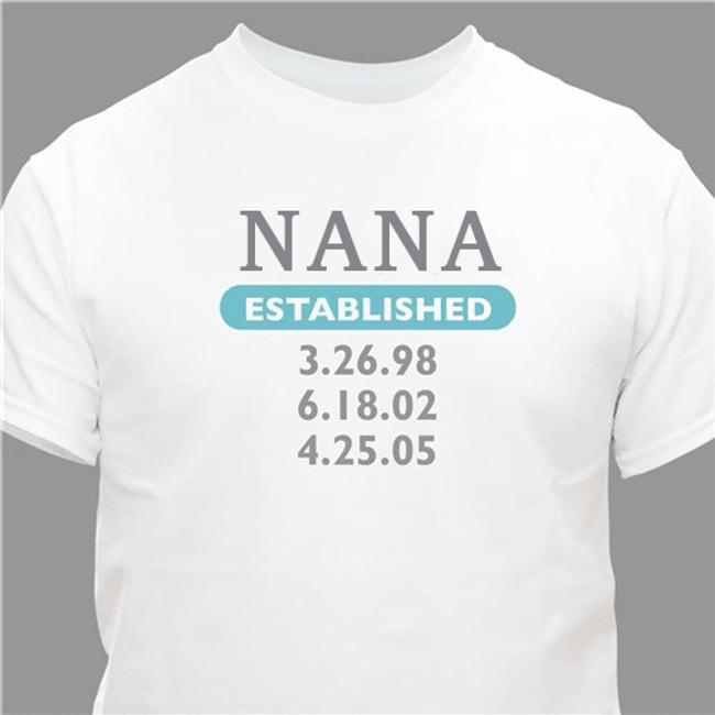 Personalized T-Shirt for Grandma ... Established - White