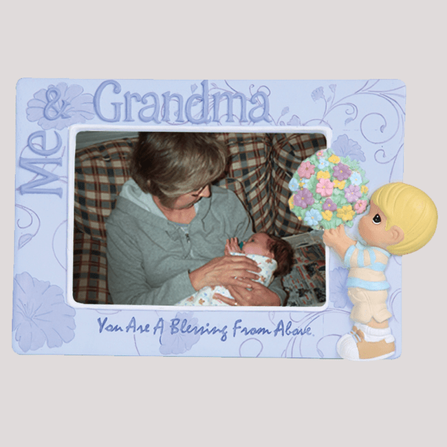 Precious Moments Frame, Me & Grandma (Boy)