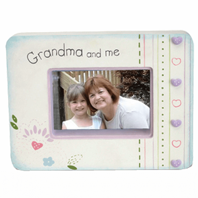 Such a cute frame just for Grandma and me.