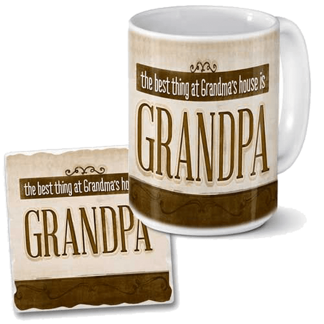 Grandpa mug and coaster set