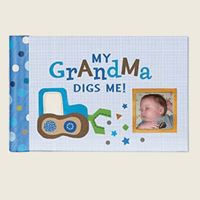 "Adorable brag book says it all:  My Grandma Digs Me!""."
