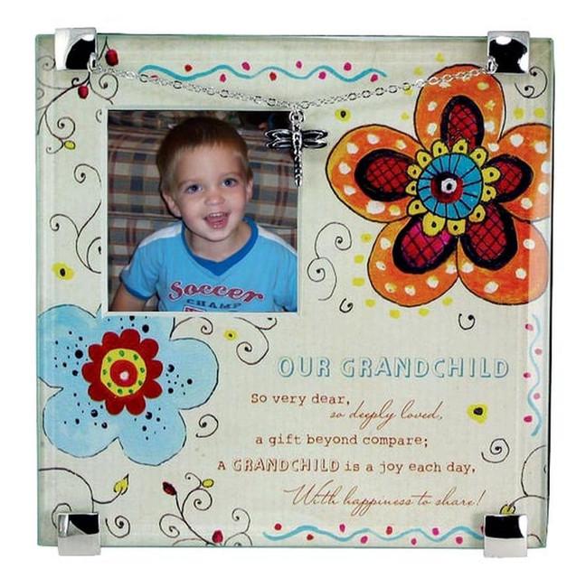 Colorful Glass Grandchild Frame.
