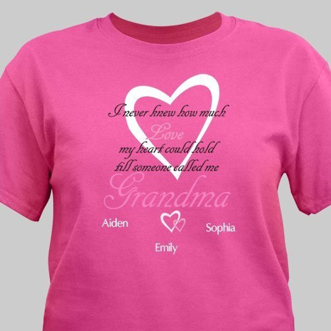 Personalized How Much Love T-Shirt Hot Pink