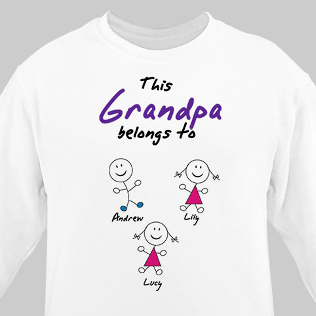 Personalized sweatshirt to show who Grandpa belongs to!