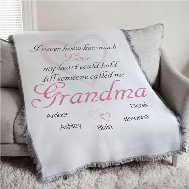 Personalized Tapestry/Throw Blanket, How Much Love