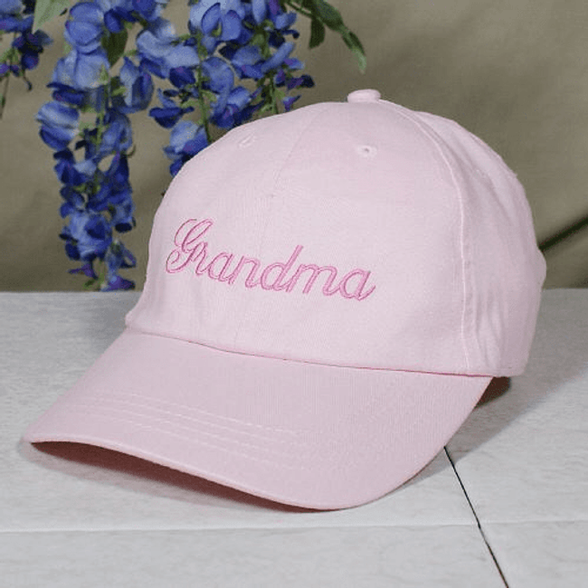 Personalized Grandma Embroidered Hat