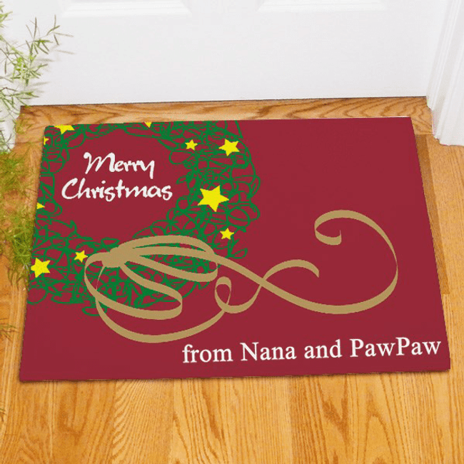 Personalized Christmas Doormat for Grandma and Grandpa