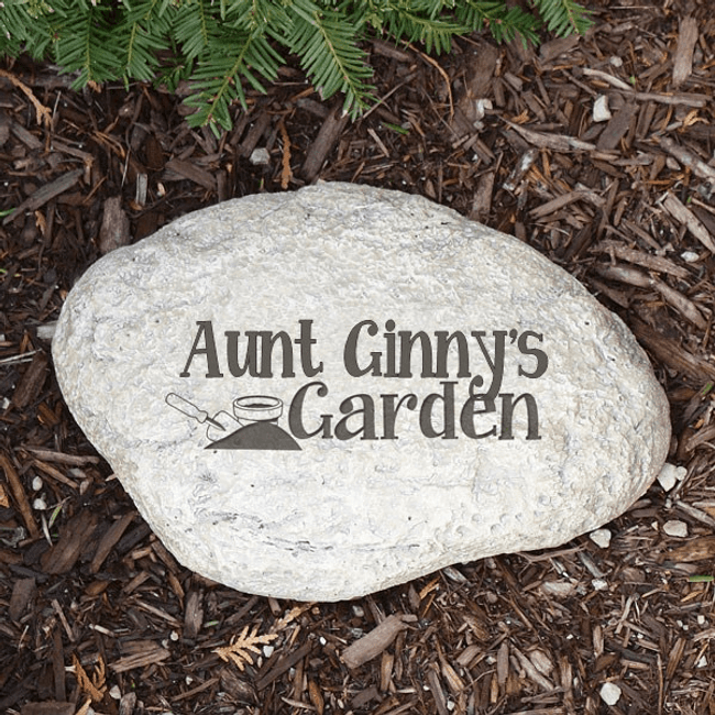 Personalized garden stone for your favorite gardener.