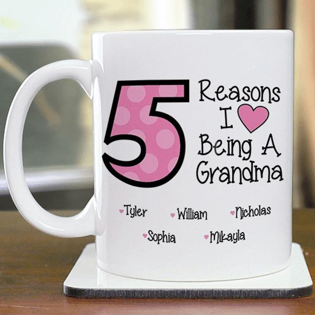 Personalized Mug - Reasons I Love Being a Grandma