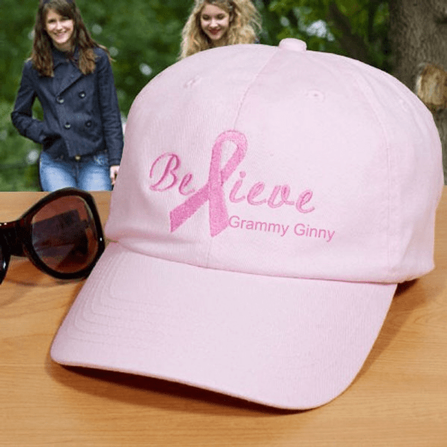 "Personalized ""Believe"" Hat for Grandma"