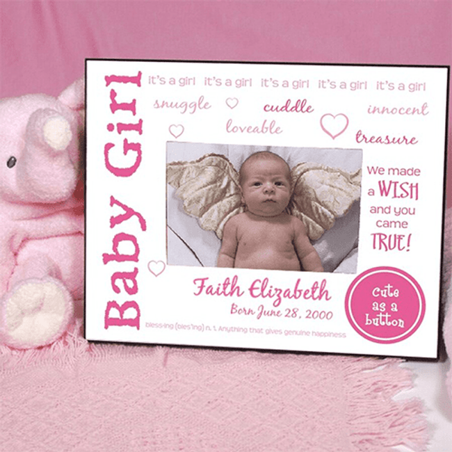Personalized Frame for Baby Girl