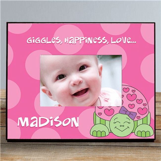 Personalized Turtle Frame for Baby Girl