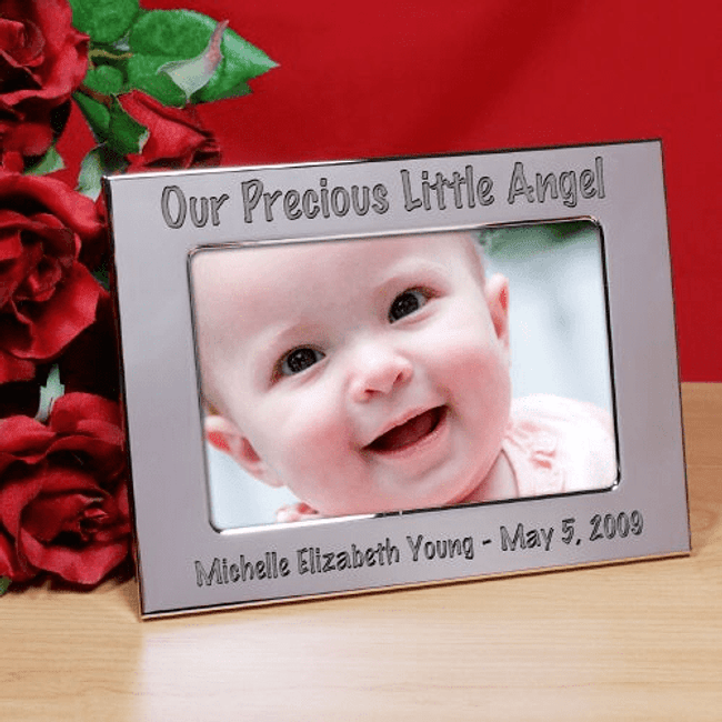 Personalized Silver Frame for Grandma - Our Precious Little Angel