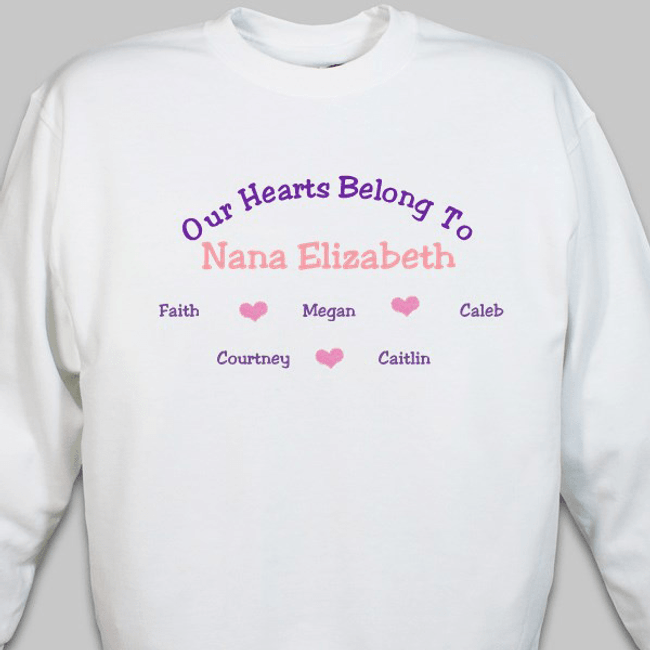Beautiful Embroidered Sweatshirt, Our Hearts Belong To ...