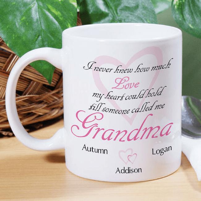 Elegant Grandma Mug, How Much Love Can Your Heart Hold?