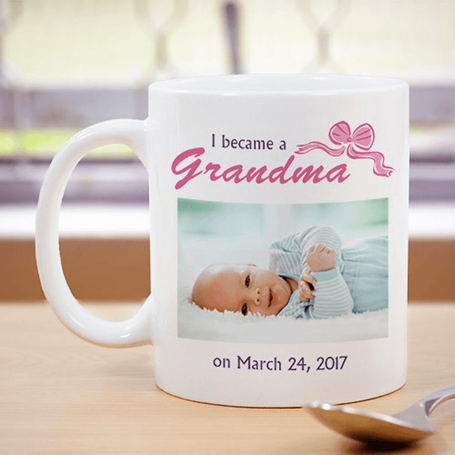 Photo Mug for New Grandma.