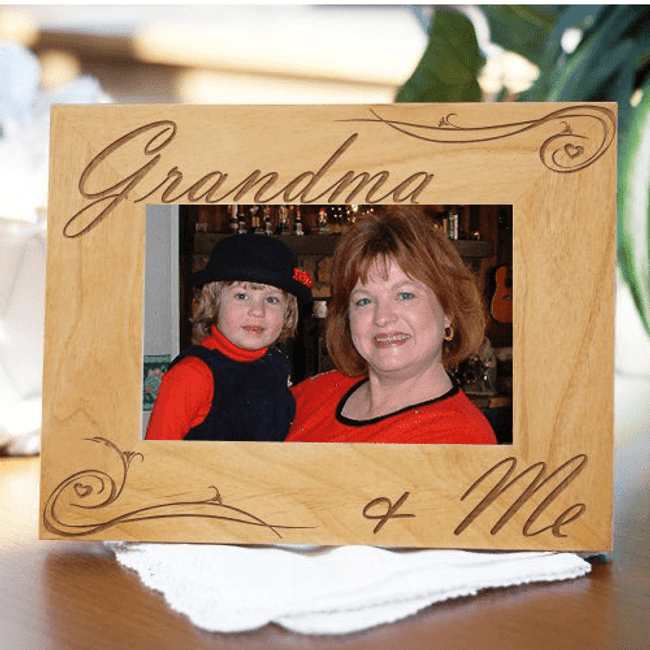 Grandma & Me Engraved Wood Frame