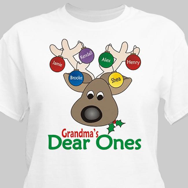 Grandma's deer ones Christmas t-shirt is too cute!