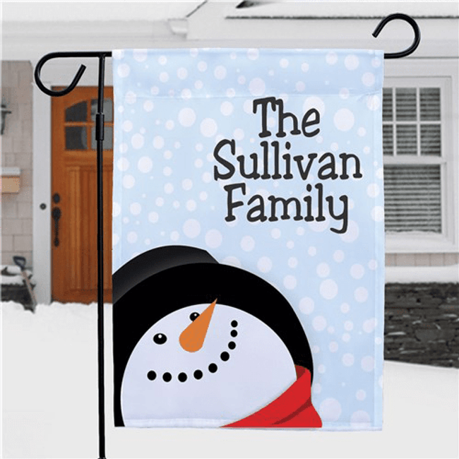 Christmas garden flag can be personalized just for your family.
