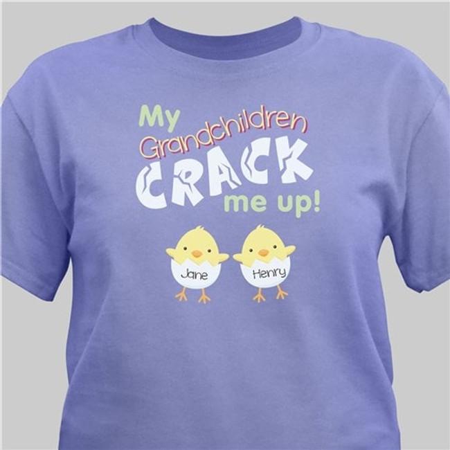 Violet T-shirt, My Grandkids Crack Me Up!