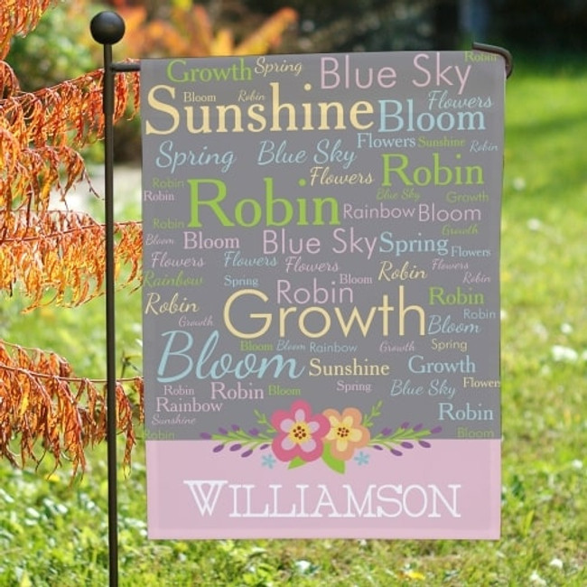 Spring Garden Flag, Personalized.