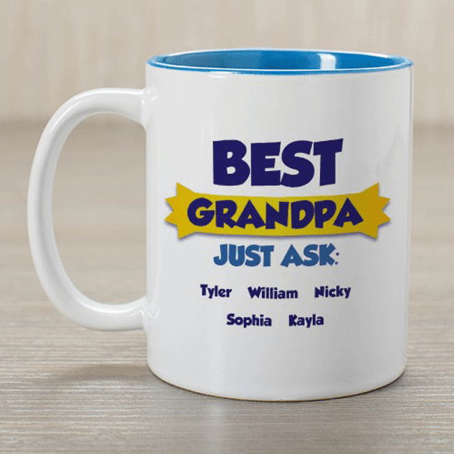 Personalized mug for your best Grandpa, Dad, or any special man