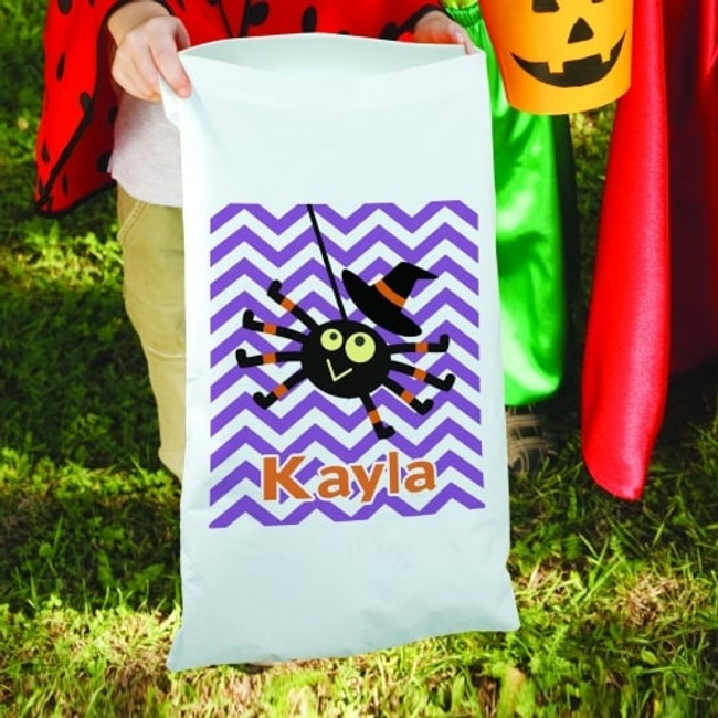 Halloween pillow case/candy sack personalized for any special girl.