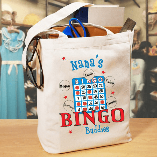 Canvas tote for a bingo playing grandma!