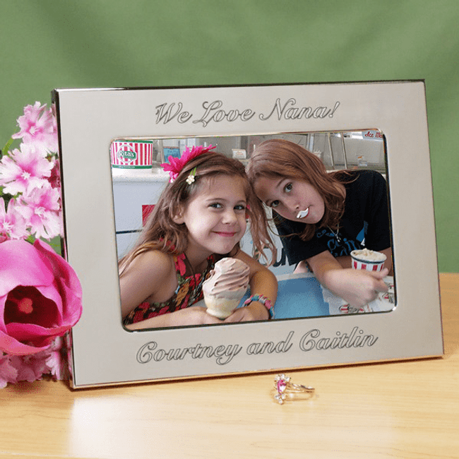 Personalized Silver Frame for a Special Grandma