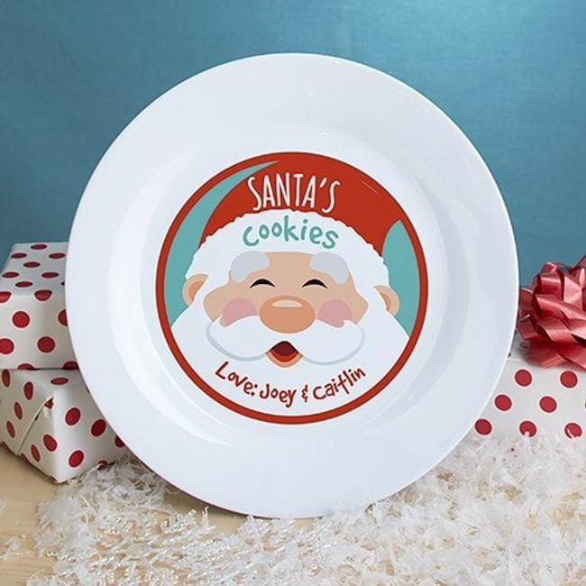 Personalized cookie plate just for Santa, signed by the kids.