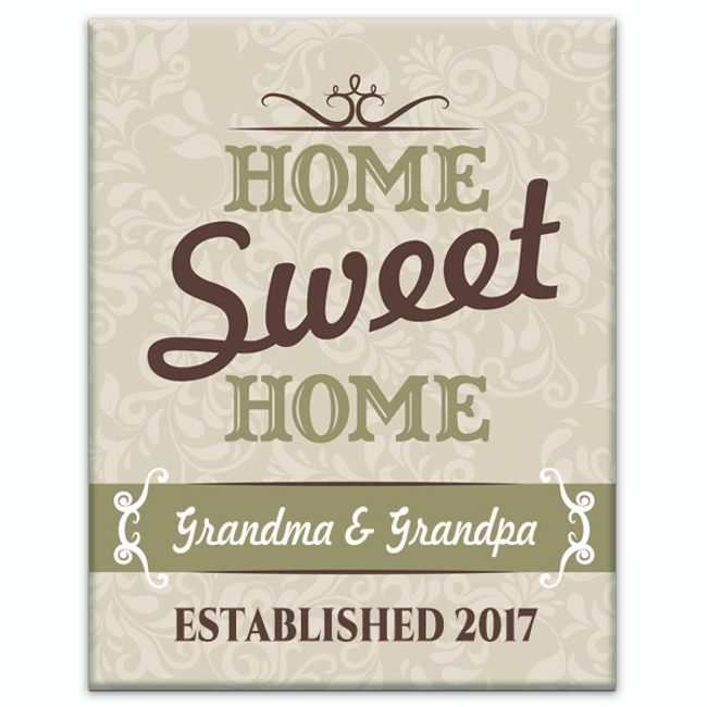 Personalized Canvas - Home Sweet Home
