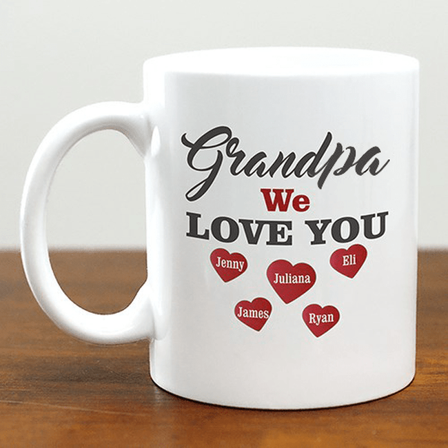 Personalized Grandpa Mug - We Love You!